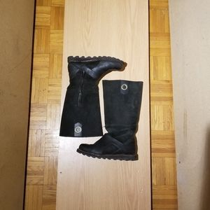 Sorel Leather & Suede Riding Moto Boot Size 6